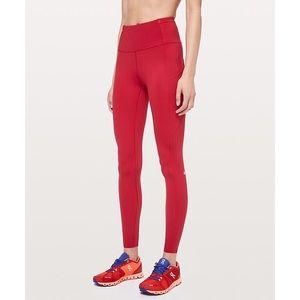 lululemon Fast & Free leggings Red $128 S